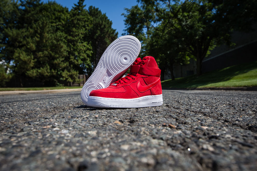half off 25fc8 e051d Nike Air Force 1 High Red Suede 315121-604 (3)