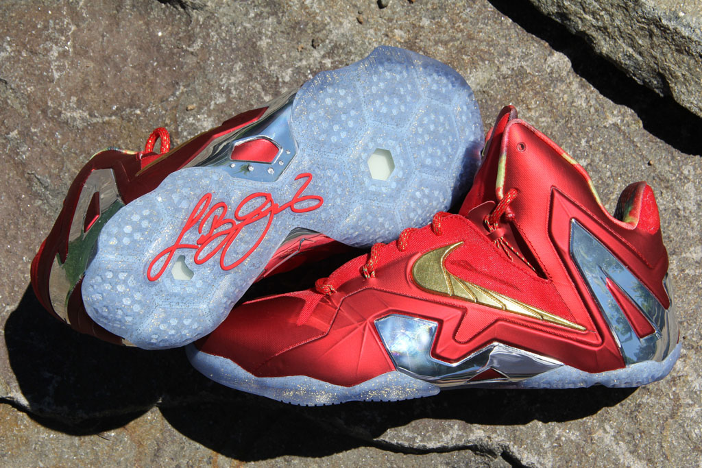 cheaper 1a6bb 76022 Nike LeBron XI 11 Elite Red Championship Pack (2)