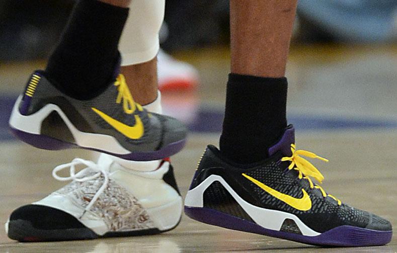 the best attitude f9f60 d6719 Kobe Bryant wearing Nike Kobe IX 9 Elite Low Hollywood Nights PE (3)