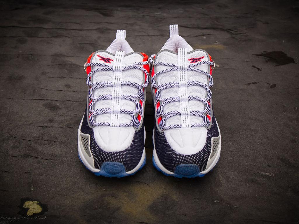 98a154905b7 Reebok DMX Run 10 White Infinite Blue Neon Cherry Silver V44397 (2)