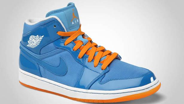 Air Jordan 1 Phat Mid - Italy Blue/White-University Blue-Vivid Orange