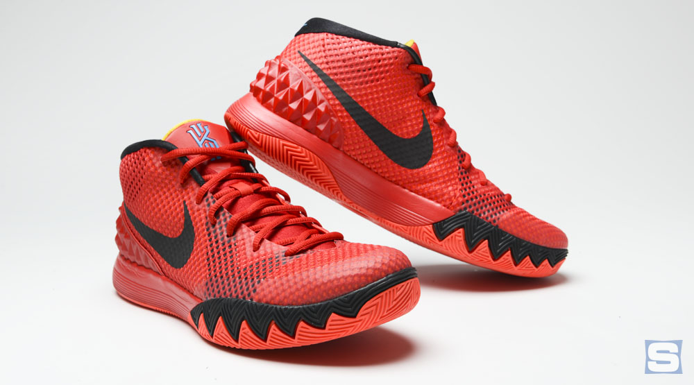 black and white nike shoes kyrie 1 deceptive red for sale 946316