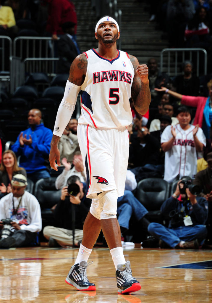 official photos 86ad0 d515f ... Josh Smith wearing adidas adizero Ghost 2 PE ...