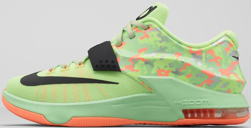 Nike KD VII Liquid Lime/Black-Vapor Green-Sunset Glow