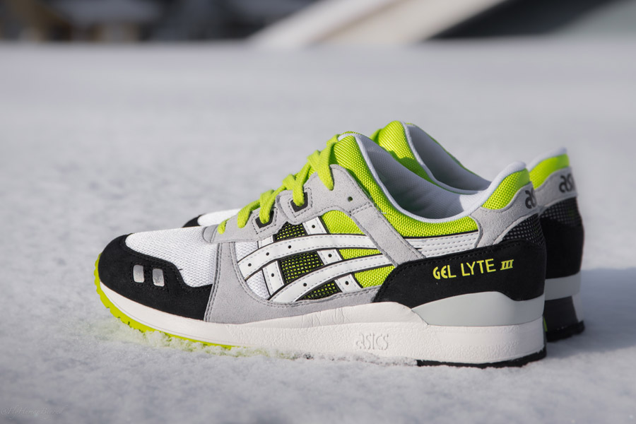 asics gel lyte iii og white/green-yellow