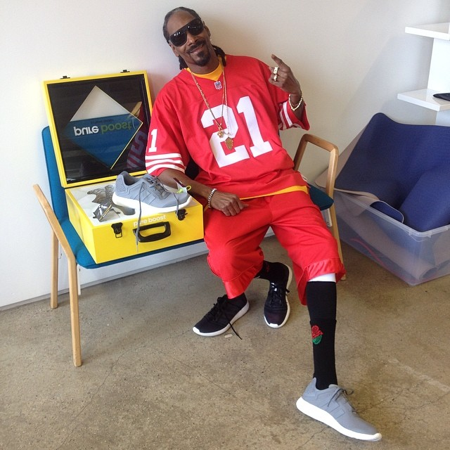 Snoop Dogg wearing adidas Pure Boost