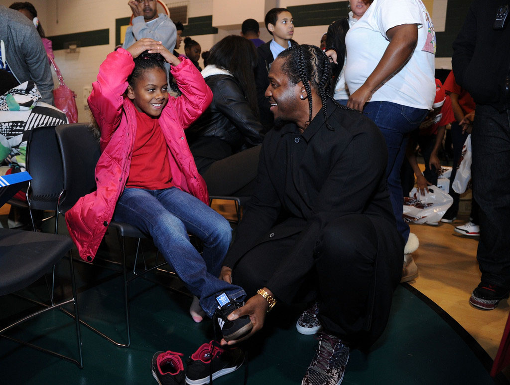 adidas Sponsors Pusha T 1000 Shoes for a 1000 Smiles Event (14)