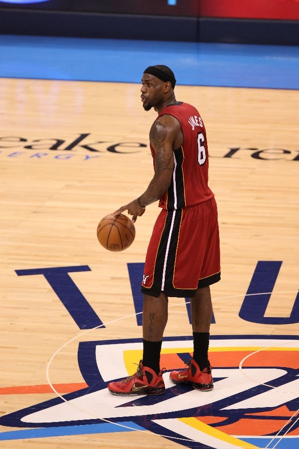new product 0b3cb 36dc6 LeBron James wears Nike LeBron 9 P.S. Elite Finals Red (14)