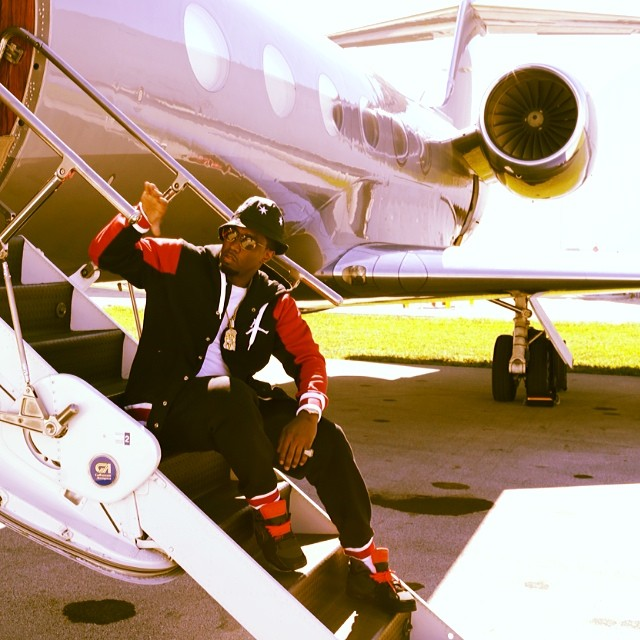Diddy wearing Nike Air Trainer SC II Megatron
