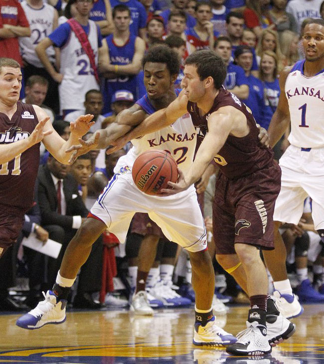 Andrew Wiggins Makes Kansas Debut in adidas Rose 773 2 PE (3)