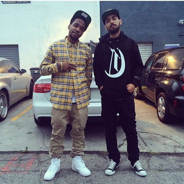 Currensy wearing Nike Air Force 1 Mid; Yousef E wearing Converse Chuck Taylor All Star