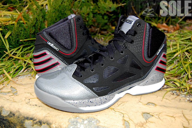 best loved 9e08e 6f399 adidas adiZero Rose 2.5 Playoffs Cement Lead Black Scarlet G48886 (3)