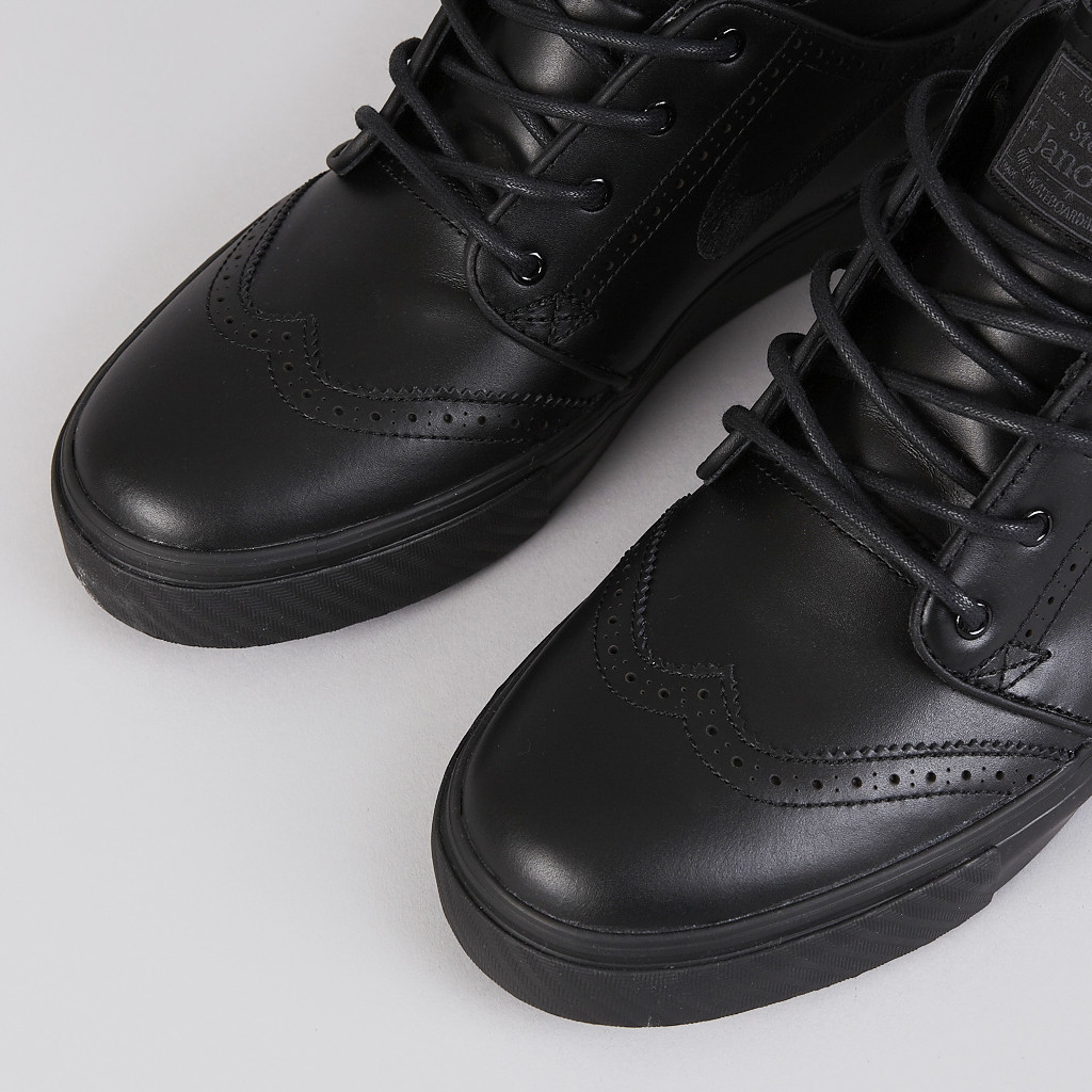 nike sb zoom stefan janoski leather black