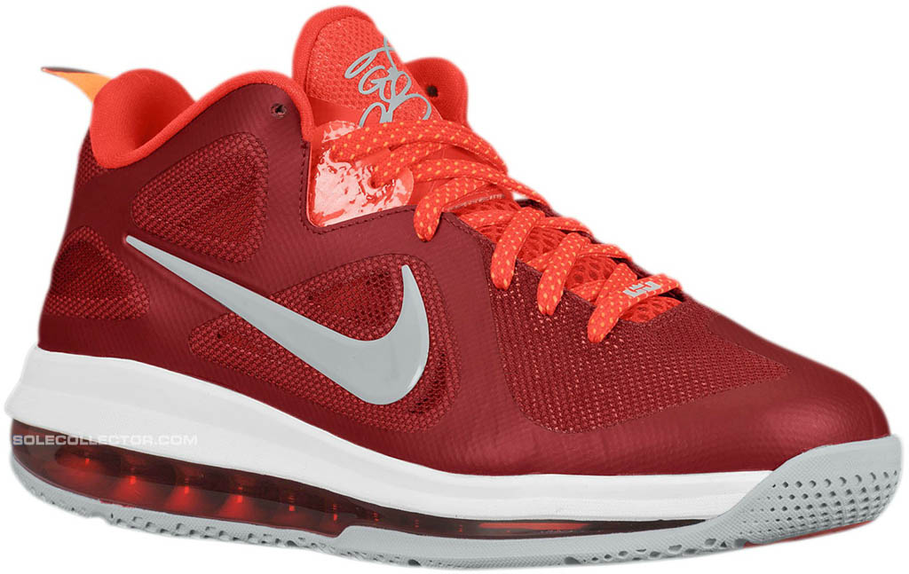 new styles 7a5ea 1dda8 Nike LeBron 9 Low Team Red Challenge Red Wolf Grey 510811-600 (1)