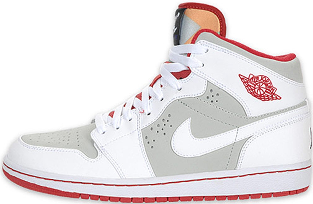 Air Jordan 1 Retro Mid WB White/True Red-Light Silver-Black