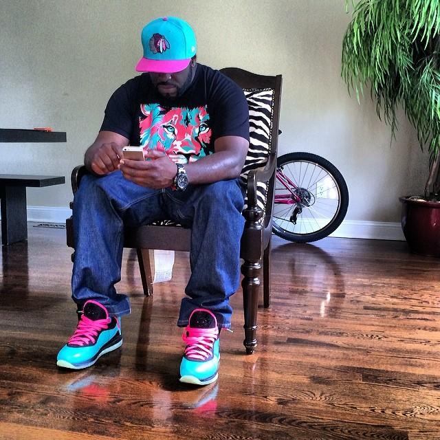 9e55e8a15d63 ... factory sale ed49b 86f18 DJ Funk Flex wearing Nike LeBron VIII 8 South  . ...