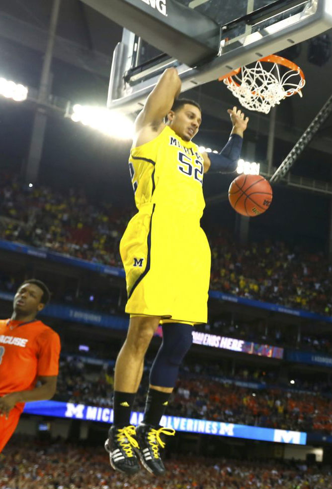Jordan Morgan wearing adidas Crazyquick