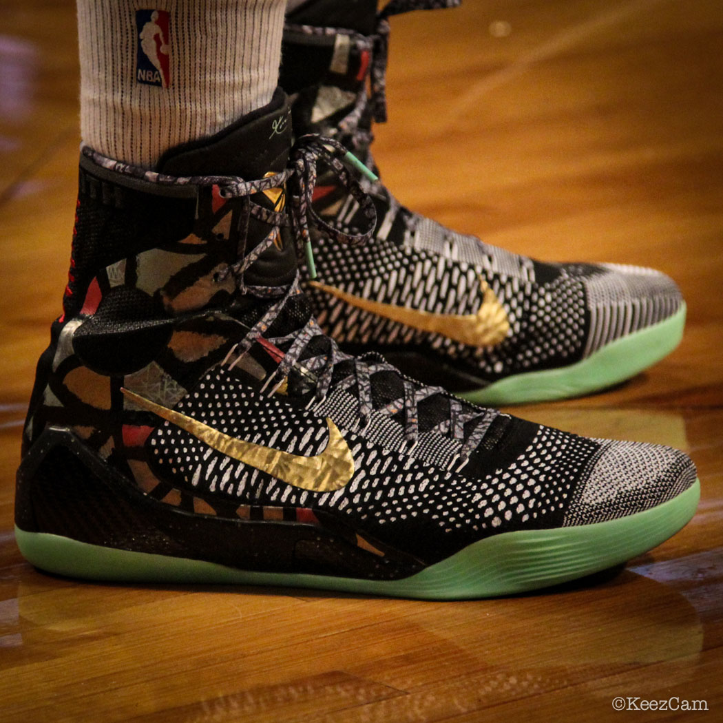 Derrick Williams wearing Nike Kobe 9 Elite NOLA Gumbo League (1)