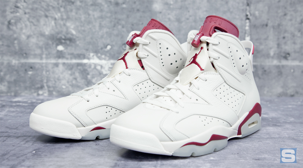 cf9ca92a4c1100 Here s the  Maroon  Jordan 6 in All Its Nike Air Glory