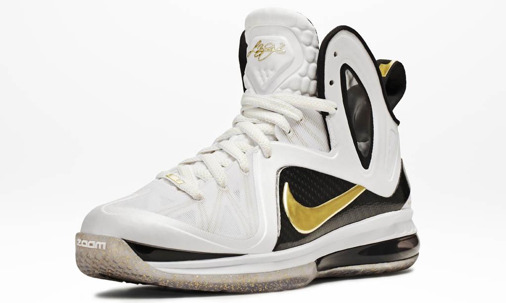 official photos 543bb f6e14 Nike LeBron 9 Elite Home White Black Gold 516958-100 (7)