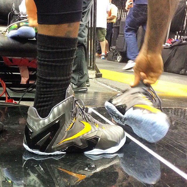 8b0077db821 LeBron James Breaks Out Two New Nike LeBron 11 Colorways for Media ...
