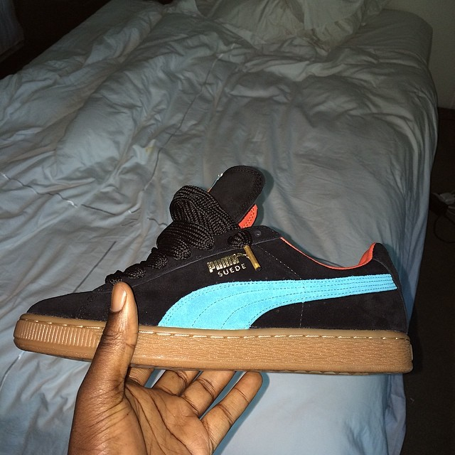 Wale Picks Up Anwar Carrots x PUMA Suede