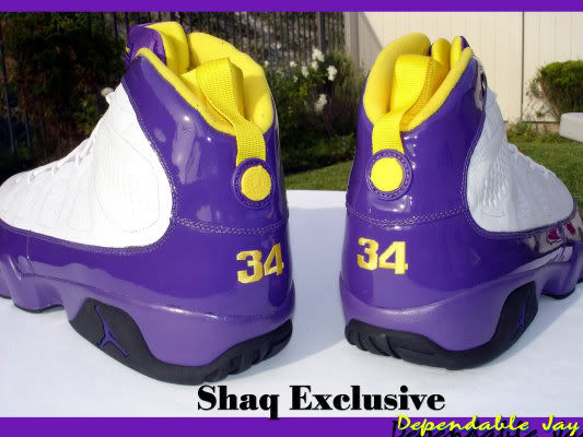 Air Jordan IX 9 Shaquille O'Neal Shaq Lakers Home PE (1)