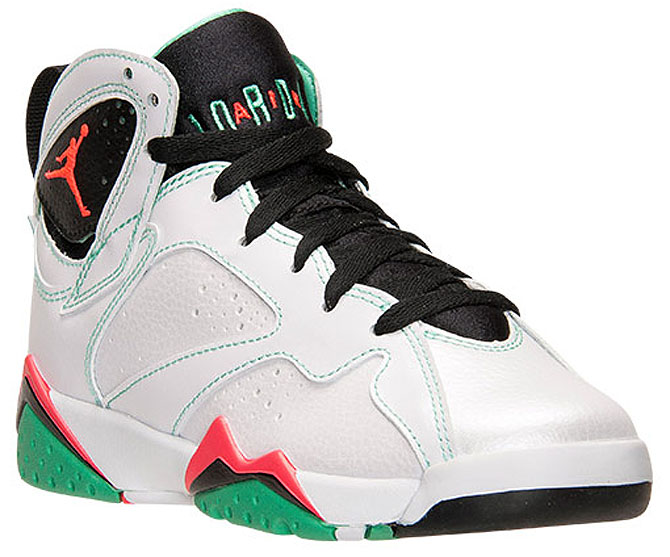 Air Jordan VII 7 GS White/Infrared-Black-Verde 705417-138 (1)