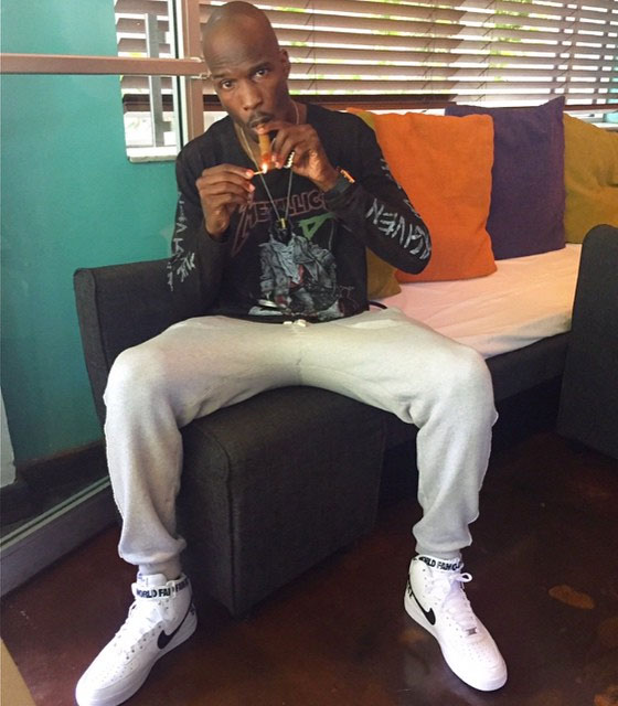 Chad Johnson wearing Nike Air Force 1 High Supreme White