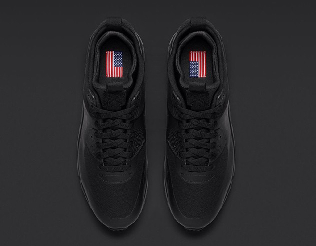 free shipping e7d6d 932a7 Nike Air Max 90 Sneakerboot Patch  Black