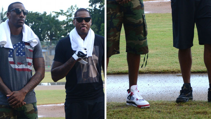 Carmelo Anthony & Amare Stoudemire Wear Air Jordans in Puerto Rico
