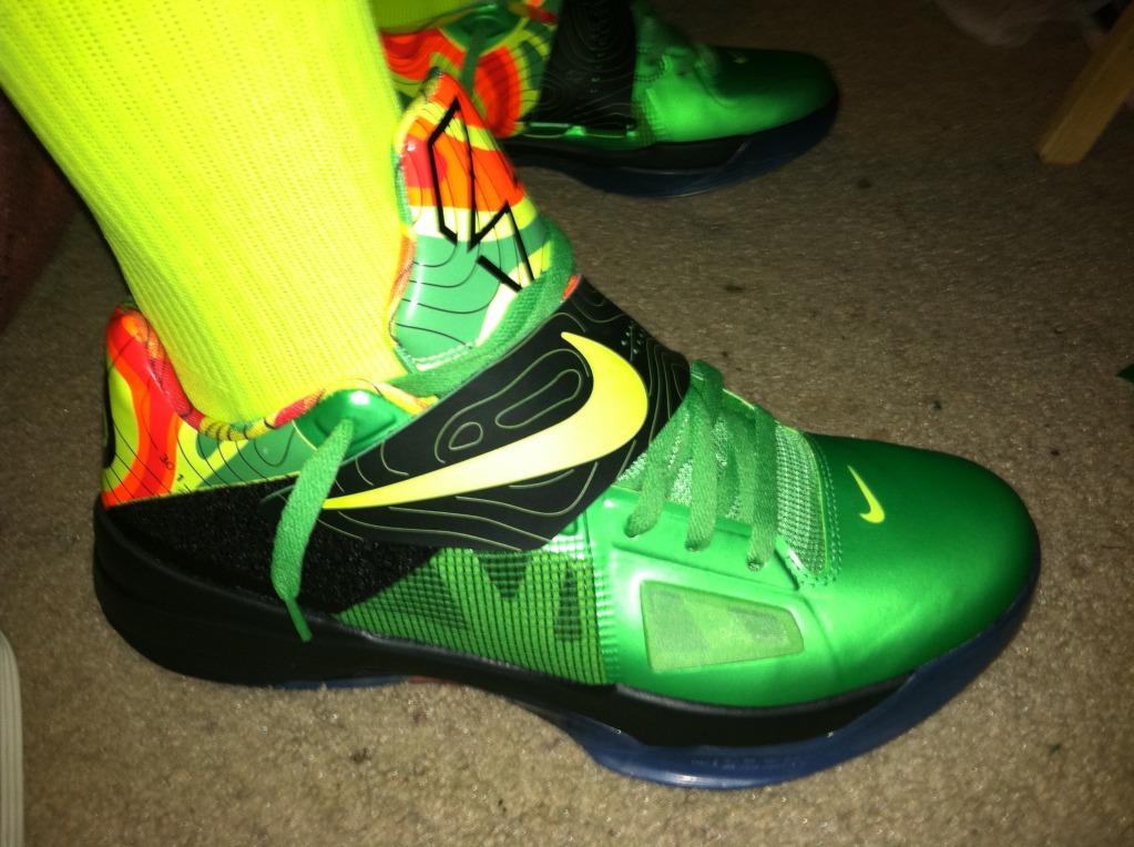 "Release Recap: Nike Zoom KD IV - ""Weatherman"" | Sole CollectorKd 4 On Feet"
