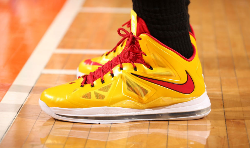 LeBron James wearing Nike LeBron X Carmex (1)