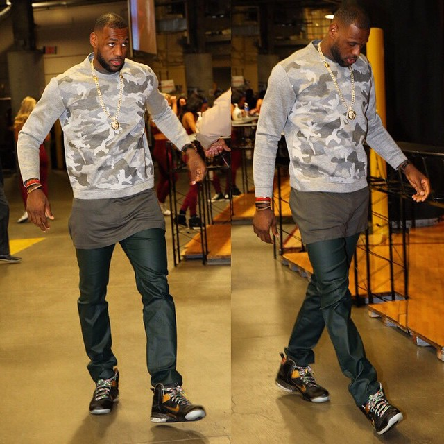 new products ef510 121c7 LeBron James wearing the  Watch the Throne  Nike LeBron IX 9