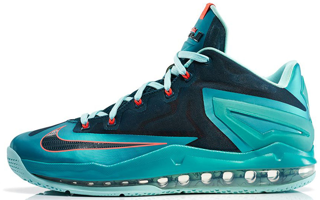 newest 372b2 dec0d Nike LeBron 11 Elite  Hero  642846-600 Laser Crimson Black-Sport Turquoise