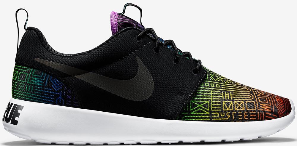 Nike Roshe Run Black/White-Rainbow