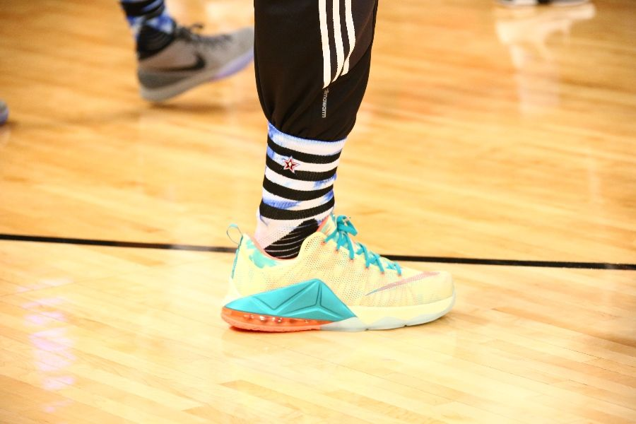 LeBron James wearing Nike LeBron XII 12 Low LeBronold Palmer (5)