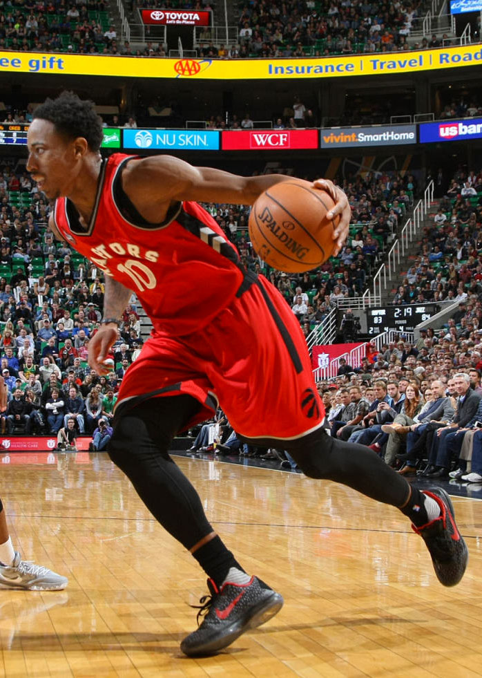 DeMar DeRozan Dunks on Rudy Gobert in a Nike Kobe 10 iD (3)