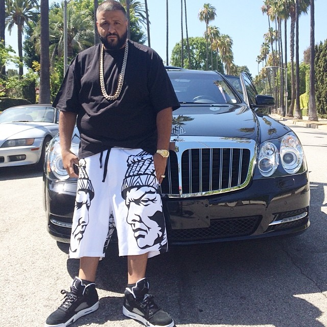 DJ Khaled wearing Air Jordan V 5 Oreo