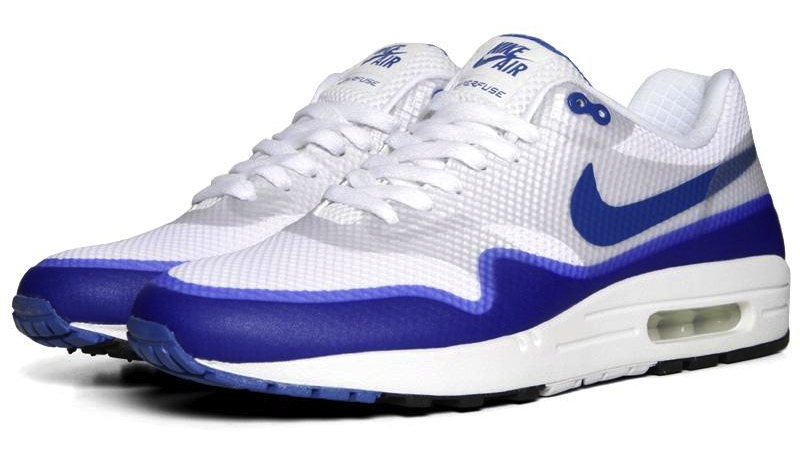 Nike Air Max 1 Hyperfuse Premium - White / Varsity Blue / Neutral Grey | Solecollector