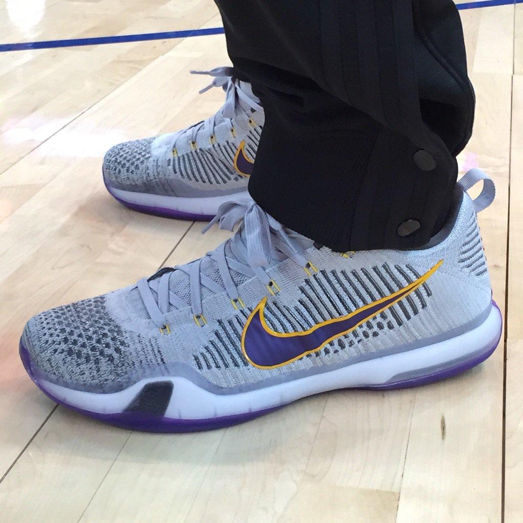 detailed look 06d54 7990d Nike Kobe 10 Grey Lakers PE (1)
