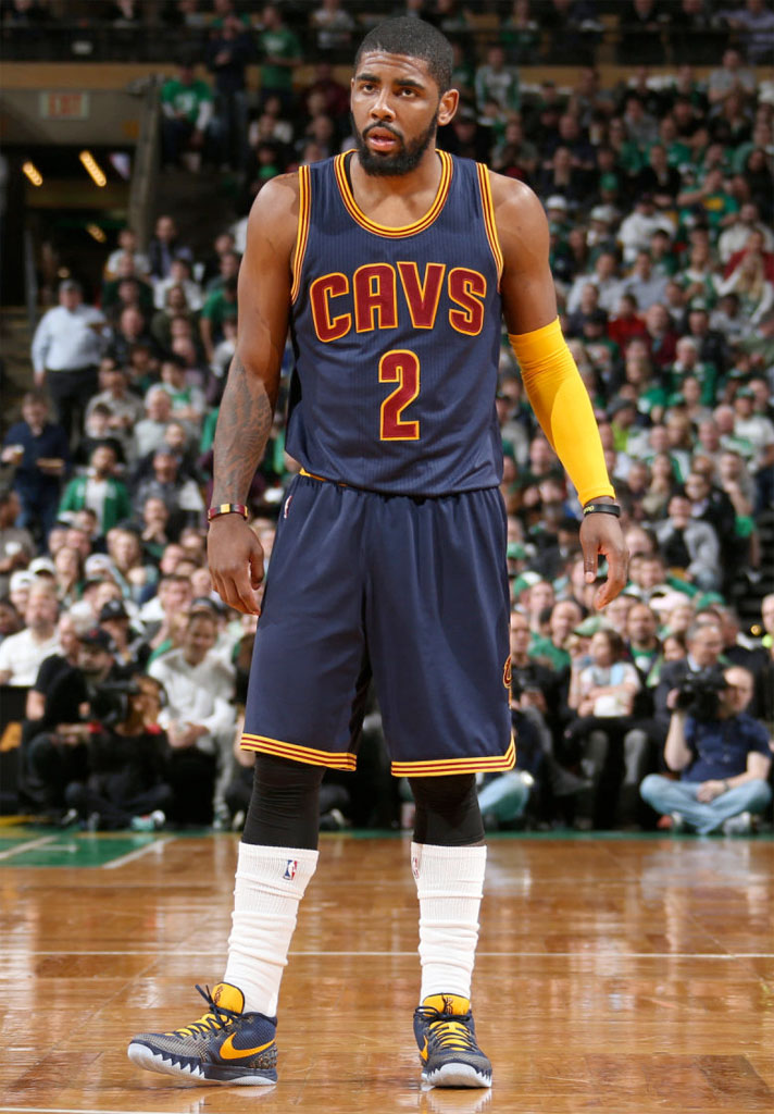 bcbb529d09f4  SoleWatch  Kyrie Irving Wears  Cavs Navy  Nike Kyrie 1 PE in Game 3
