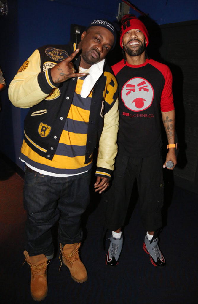 Redman wearing Nike Air Max 1 Pure Platinum; Smoke DZA wearing Timberland 6-Inch Boots