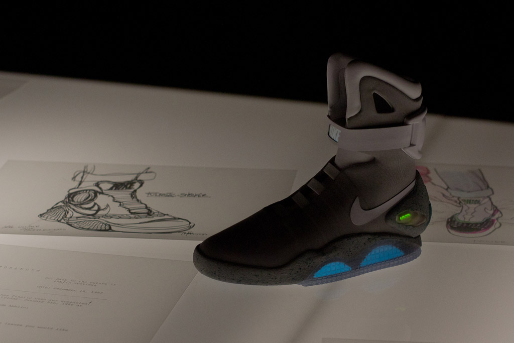 05ea7f1fbae2 We go back in time with a look at several of Tinker Hatfield s original  design sketches for the infamous Nike MAG.