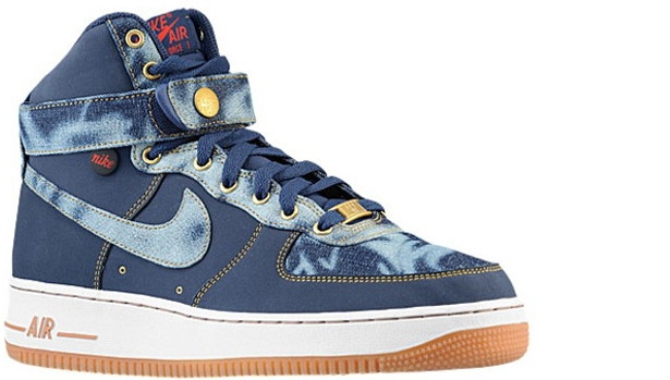 Nike Air Force 1 High '07 Denim Midnight Navy/Midnight Navy-Gum Medium Brown-University Blue