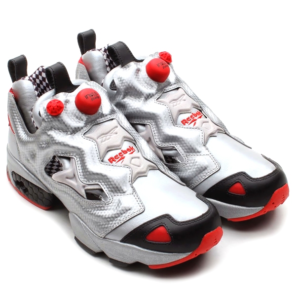 reebok pump fury silver black excellent red sole. Black Bedroom Furniture Sets. Home Design Ideas