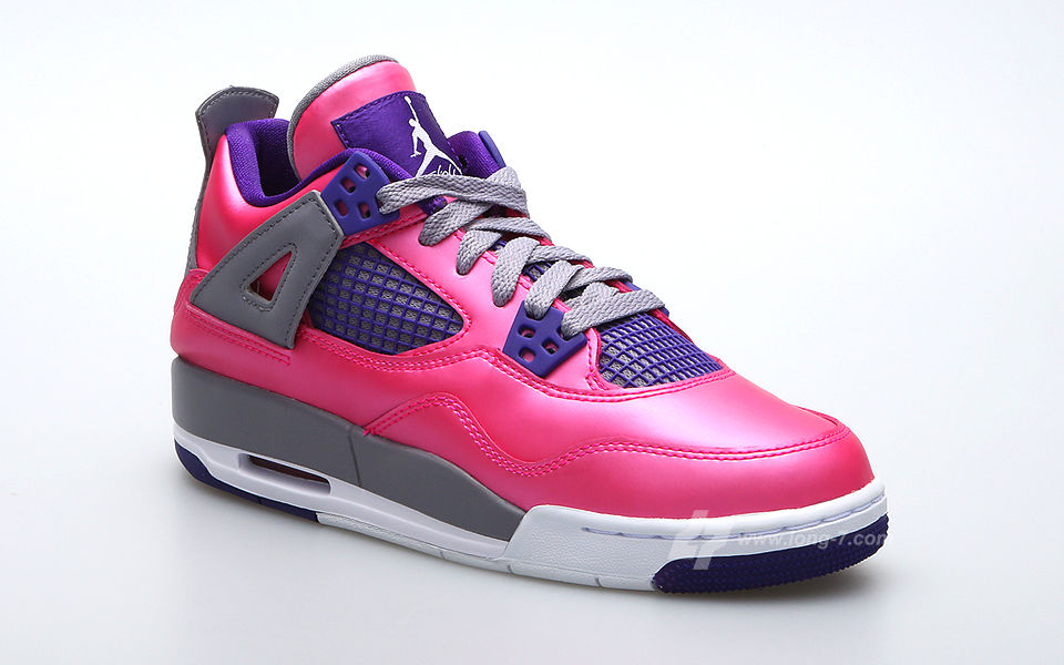 Air Jordan 4 Retro GS Pink Purple Grey 487724-607 (2)