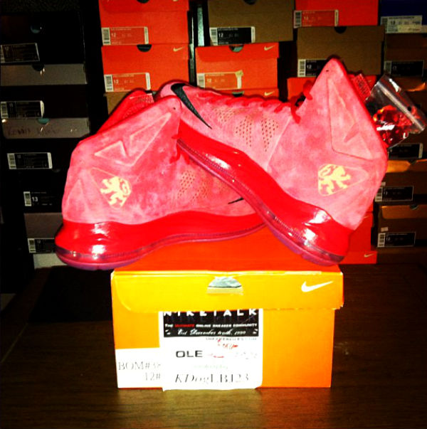 Nike LeBron X Red Suede (2)