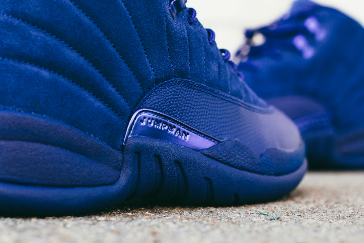 Air Jordan 12 Blue Suede Right 130690-400