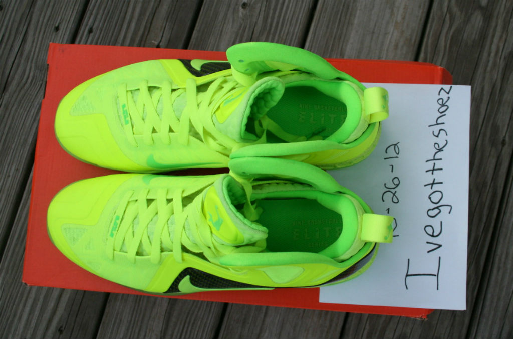 on sale 80b72 d7597 Nike LeBron 9 PS Elite Dunkman Volt Tennis Ball (7)